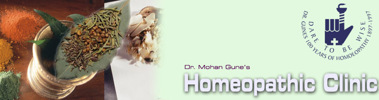 Homeopathic Clinic, Dr. Mohan Gune's Homeopathic Clinic, Homeopathy India